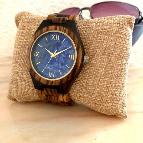 Holz Armbanduhr Bellevue