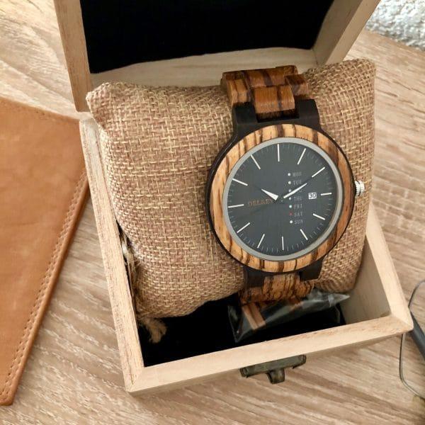 Holz Armbanduhr Delano