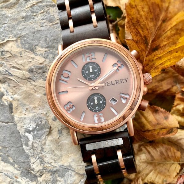 Holz Armbanduhr Larez