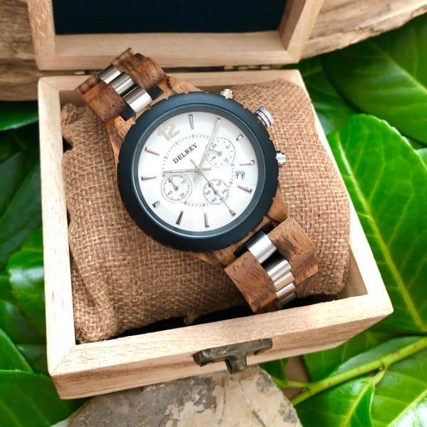 Holz Armbanduhr Livingston