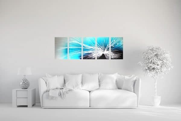 3D Wandbild Blue Dimension