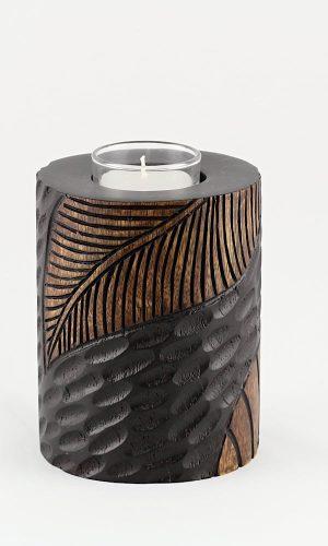 Holzdekoration - Votivkerzenhalter